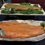 Snuffin's Catering Fresh Salmon Side Filets for buffet dinner